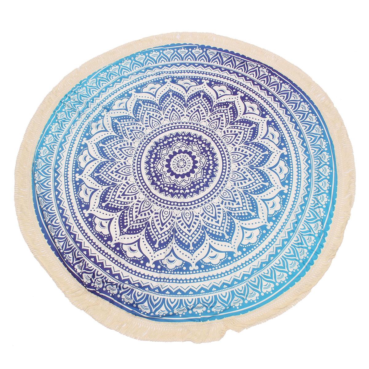 Buy 150CM Indian Round Mandala Tapestry Roundie Throw Blanket Hippie Beach Towel Yoga Mat