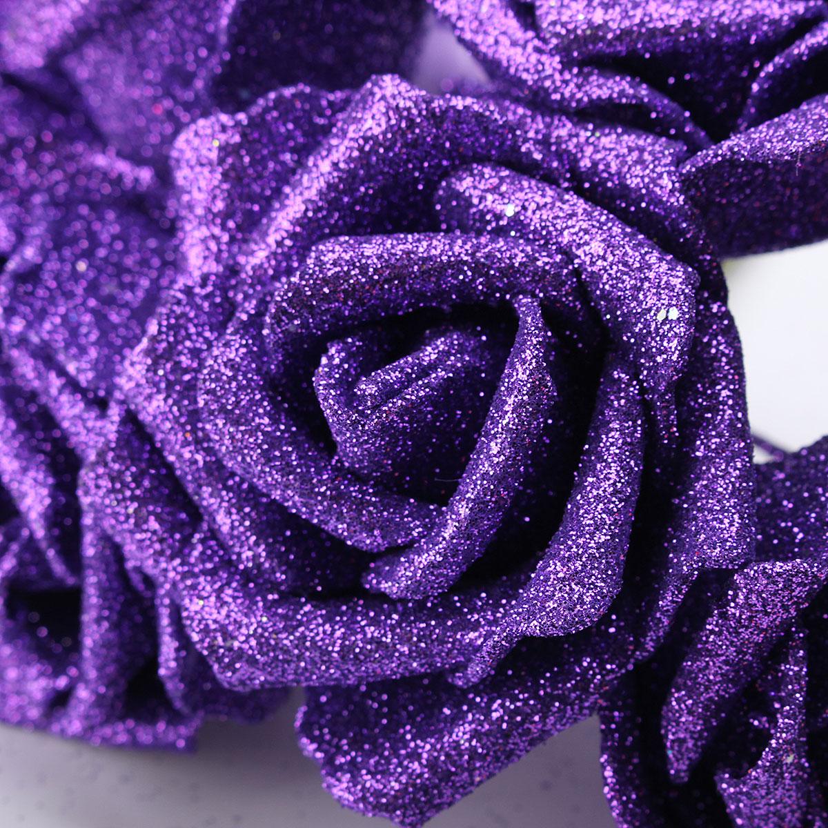7pcs Artificial Bouquet Glitter Foam Artificial Flowers