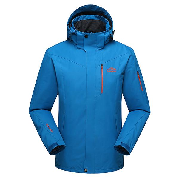 Mens Fleece Outdoor Hiking Climbing Waterproof Windproof Jacket Big Size S-6XL Mountaineering Coat