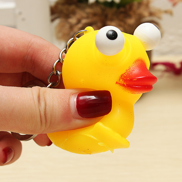 5PCS Squeeze Spoof Toy Stress Reliever Toy With Key Chain Random Color - Photo: 4