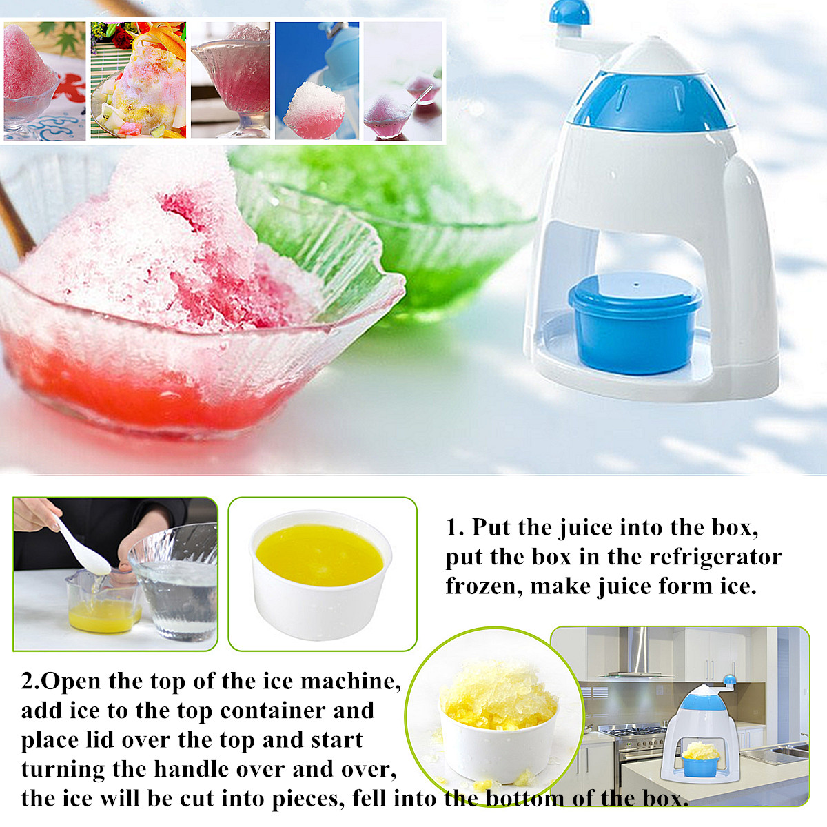 crank snow cone machine