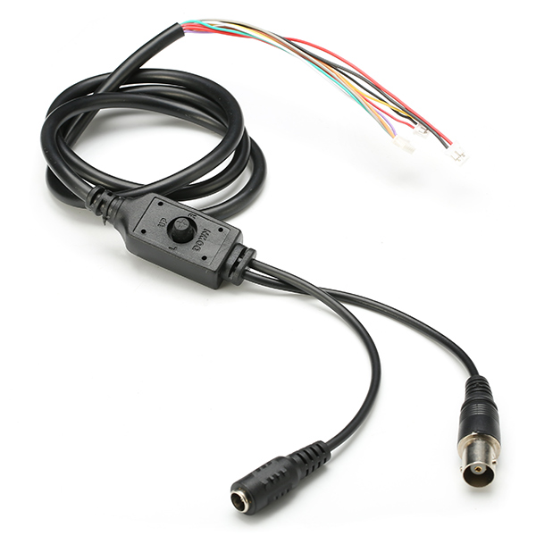 OSD Cable for 1000TVL 1/3 CCD 1.7mm 5MP 360 Degree Wide Angle Fisheye Lens FPV Camera - Photo: 1