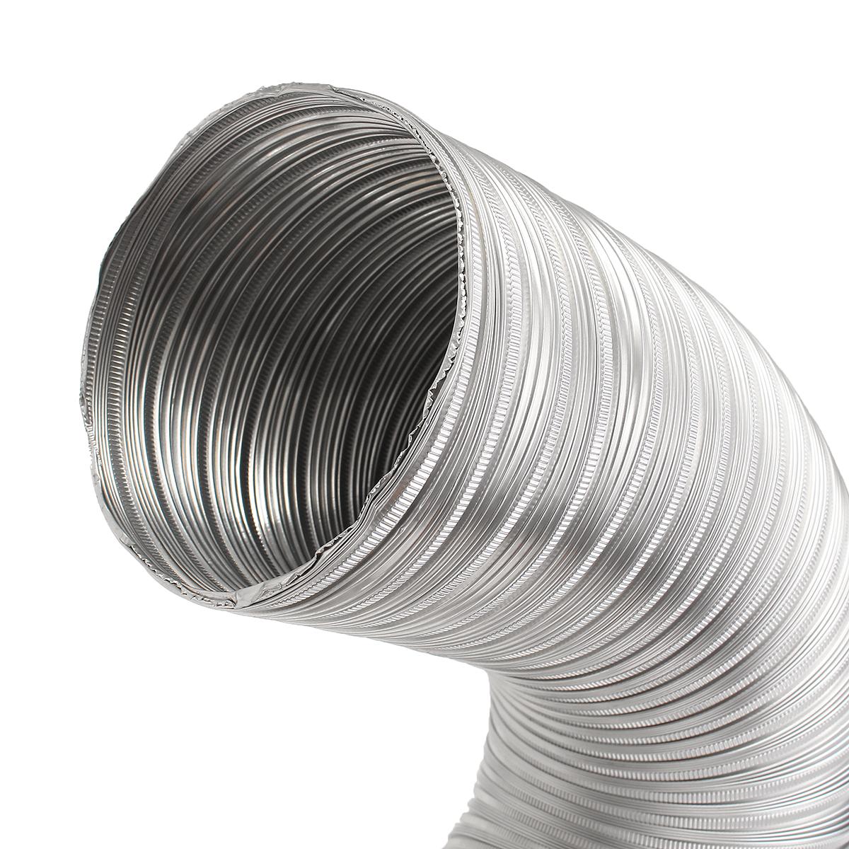 Aluminum flexible m length exhaust air vent pipe duct