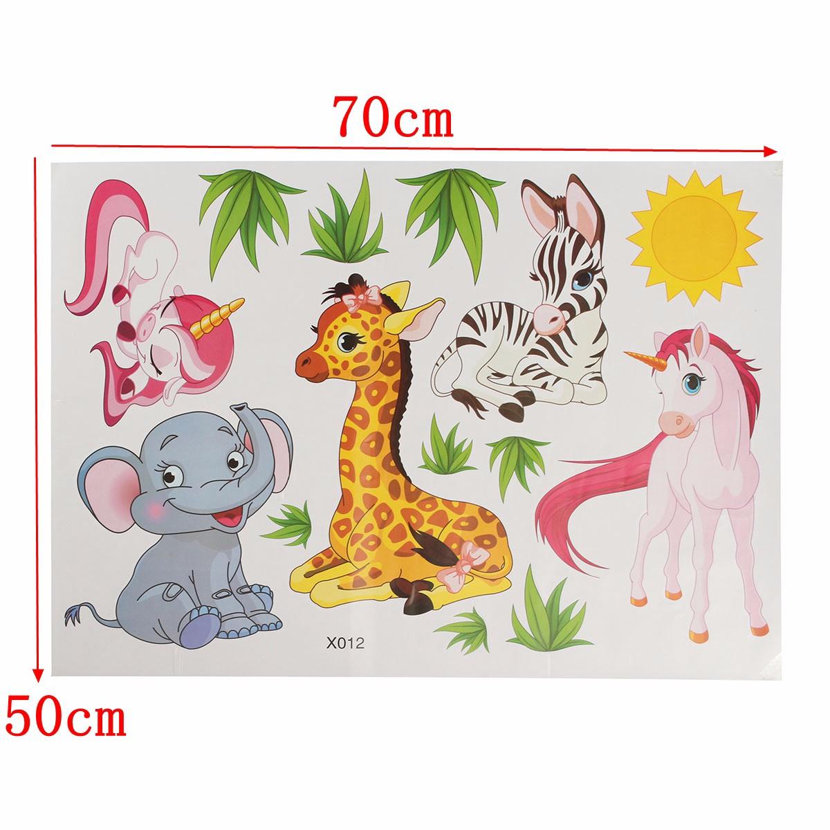 Cartone animato giraffe animale elefante erba camera da