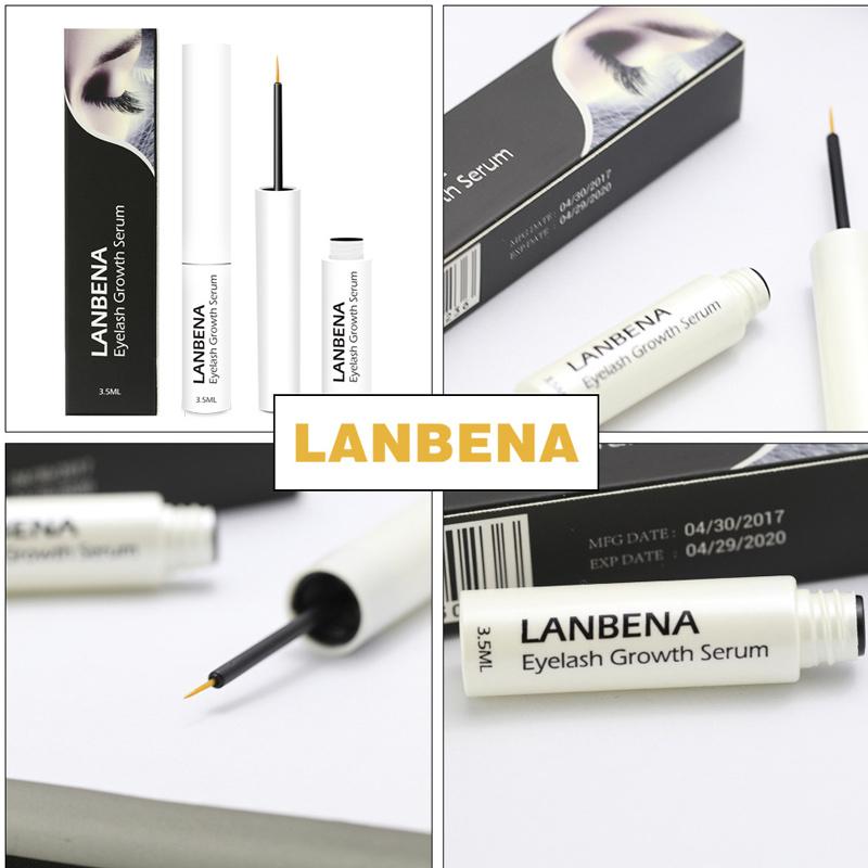 LANBENA Eyelash Growth Liquid Treatments Thicker Lengthening Eyebrow Enhancer Serum