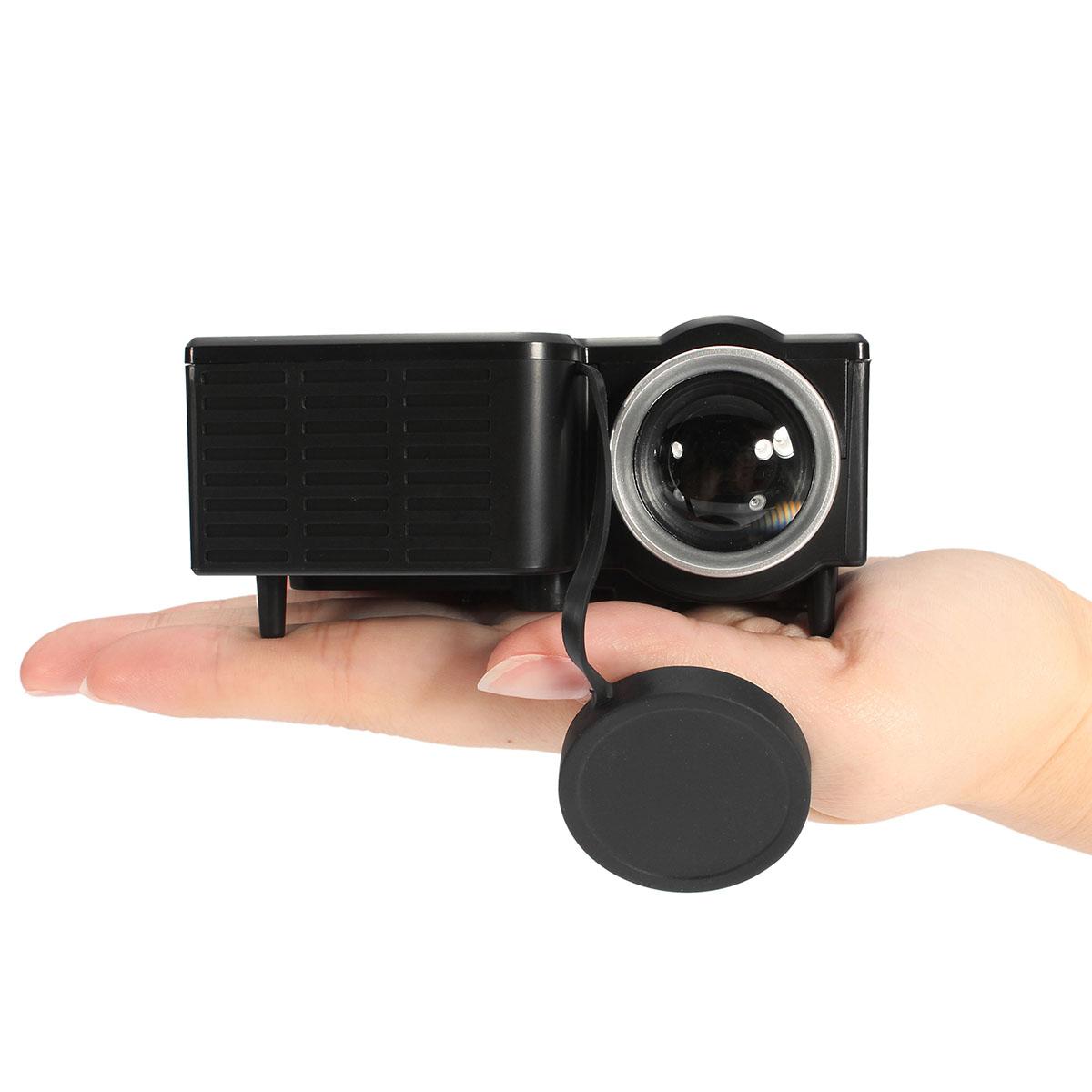 Micro uc28b 400 lumens 1920 x 1080 led mini multimedia for Mini usb projector for mobile