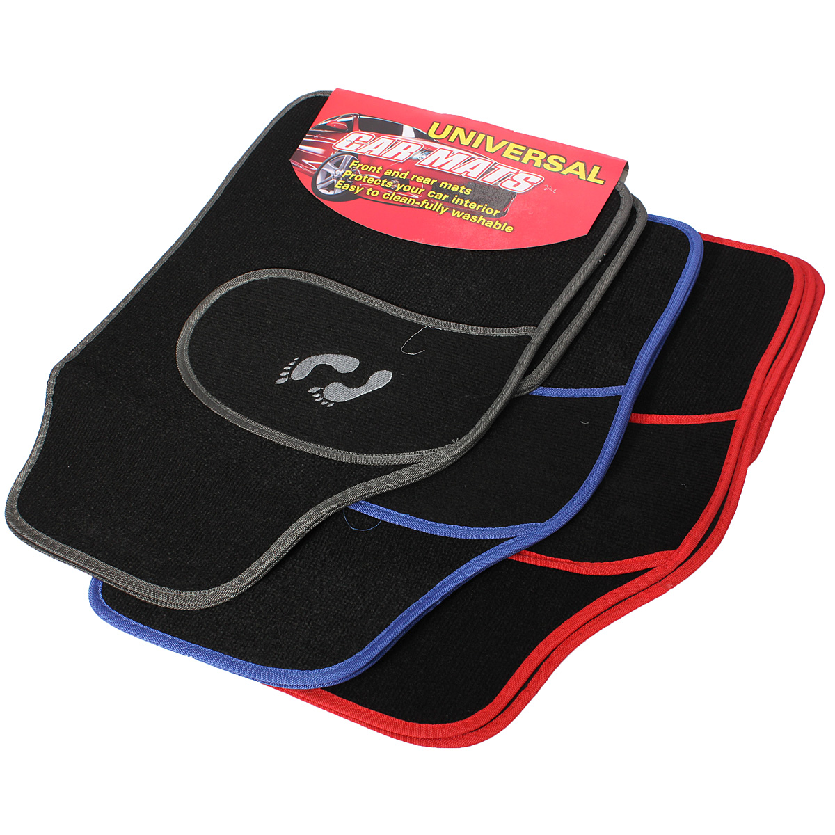 Universal 4pc Front Rear PVC Car Van Floor Mat Carpet N