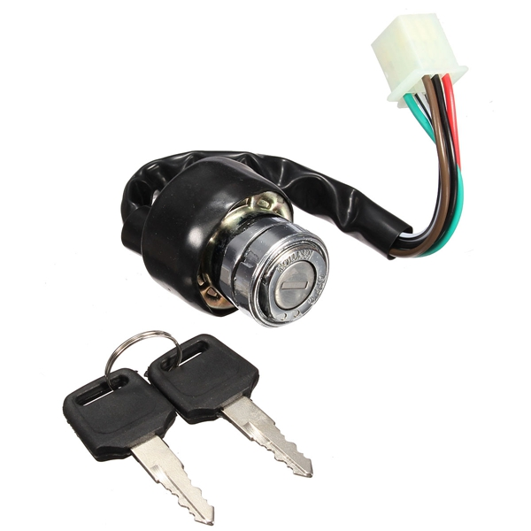 6 Wire Ignition Switch 2 Keys Universal For Car Motorcycle Scooter Bike Quad Go-Kart