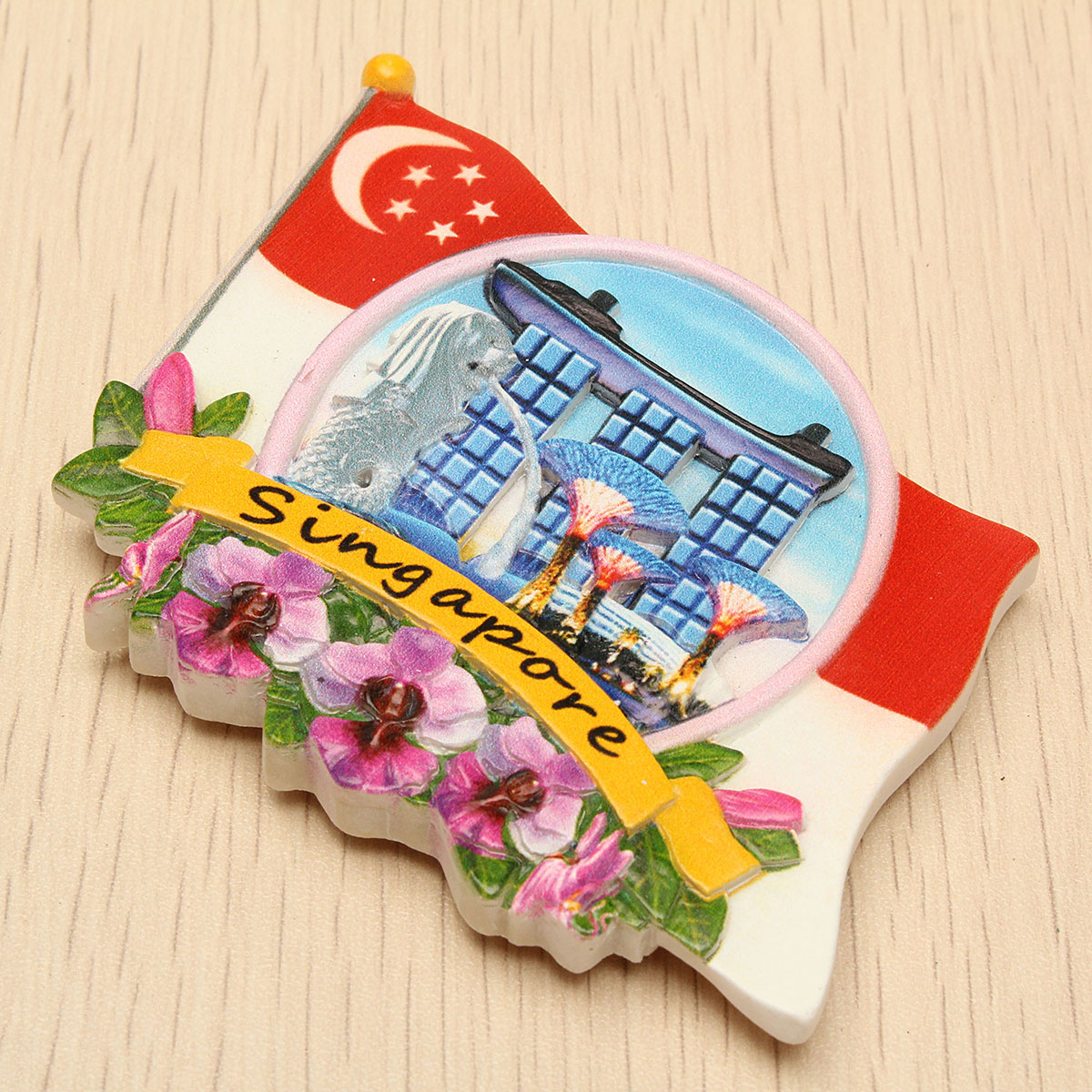 Tourist Souvenir Favorite Travel Resin 3D Fridge Magnet Colorful-Singapore - Photo: 3