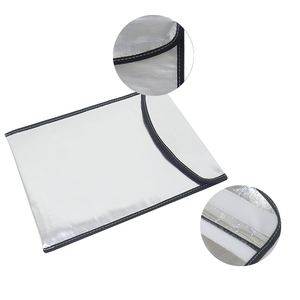 34x26cm Double-layer Aluminum Foil Glassfiber Fabric Fireproof LiPo Battery Safety Protective Bag