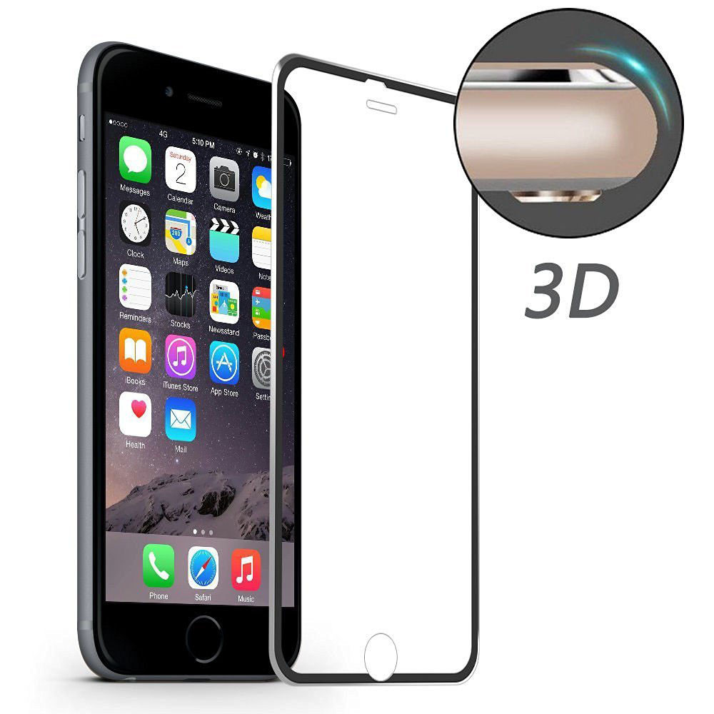 ENKAY Aluminum Alloy 3D Arc Edge 0.2mm 9H Tempered Glass Screen Protector for iPhone 6 6s