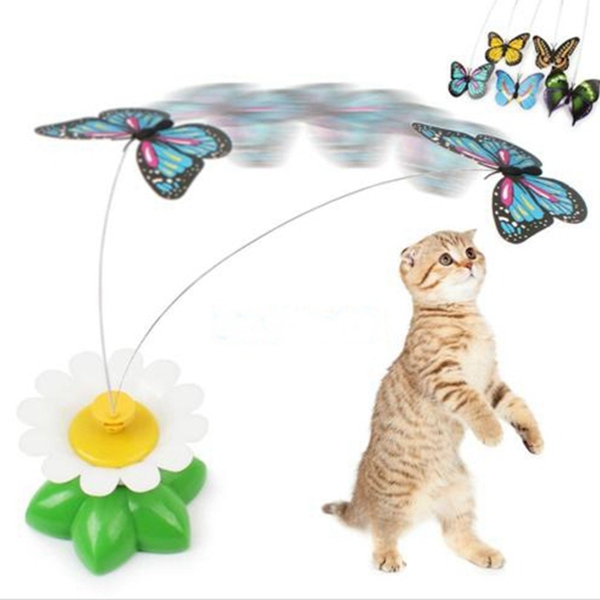 Funny Pet Cat Kitten Toys Electric Rotating Butterfly R