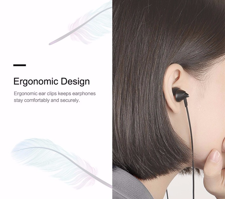 ROCK Y1 3.5mm 1.2M Stereo HiFi Earphone with Mic for Xiaomi Samsung iPhone
