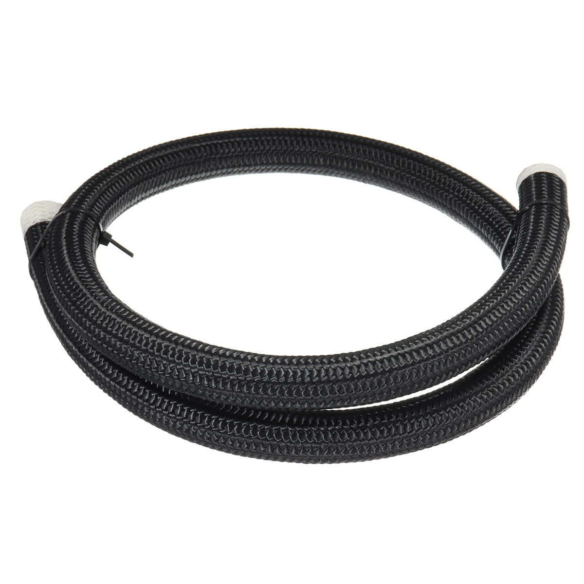 Black Nylon Stainless Steel Braided Pipe Gas Oil Fuel C