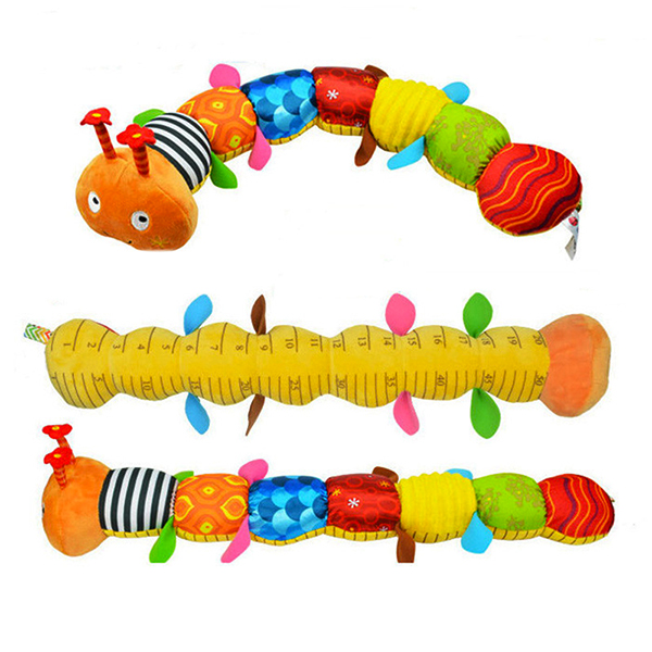 Buy Baby Musical Caterpillar Rattle Infant Catoon Ring Bell Toy Devolopment Toys