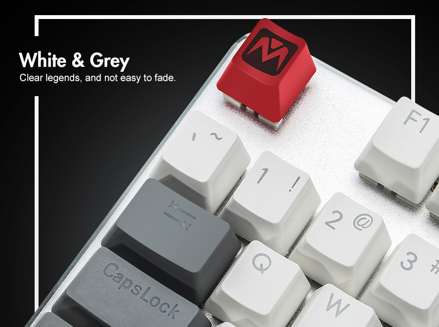 Other Computers & Networking - MantisTek White and Grey 110 Key Caps