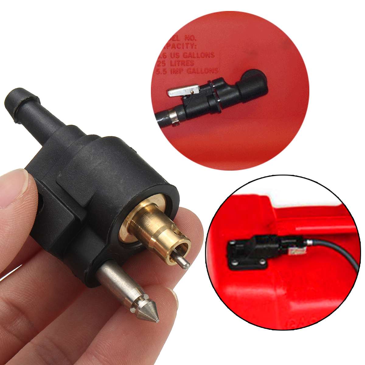 Fuel line tank connector for yamaha outboard motor engine