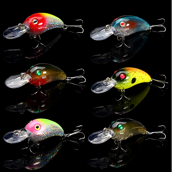 6Pcs/Lots Proberos Plastic Lures Bait 7.8CM Alice Mouth Bass Bait 10g