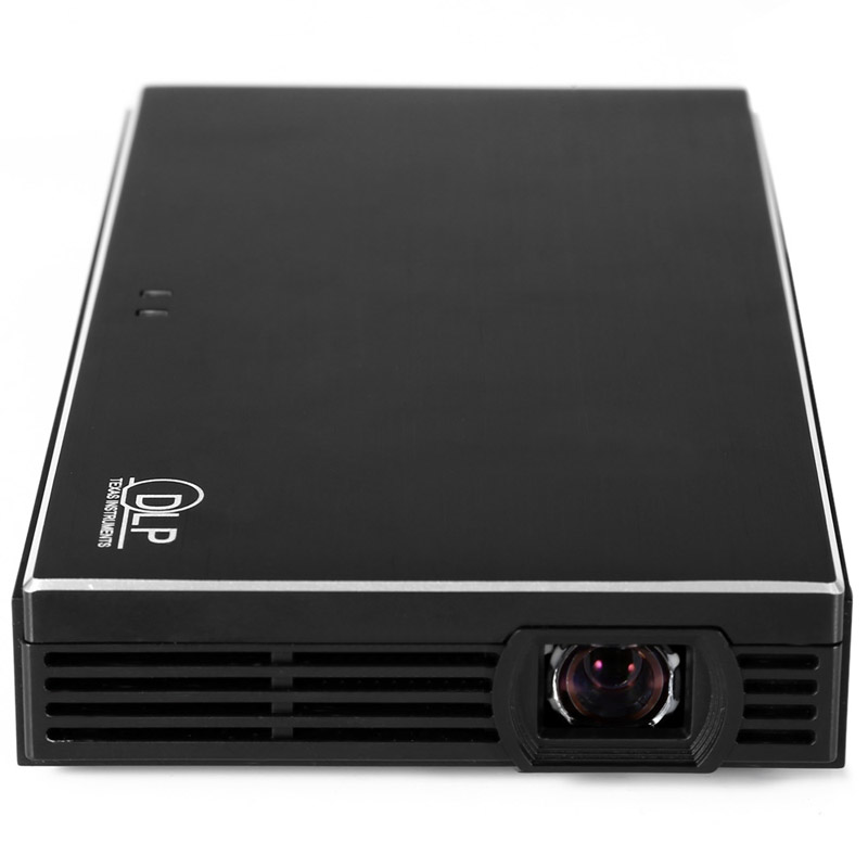 Hdp100 black dlp 1080p hd led portable projector 854 480 for Portable projector hdmi 1080p