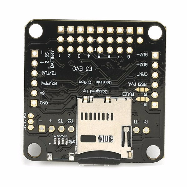F3 EVO Cleanflight Flight Controller for Multirotor Racing w/ 4G MicroSD - Photo: 4