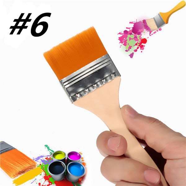 #6 Nylon Painting Brush Artists Acrylic Oil Paint Varnish Tool Art Supply (Eachine1) Independence Prokupka products