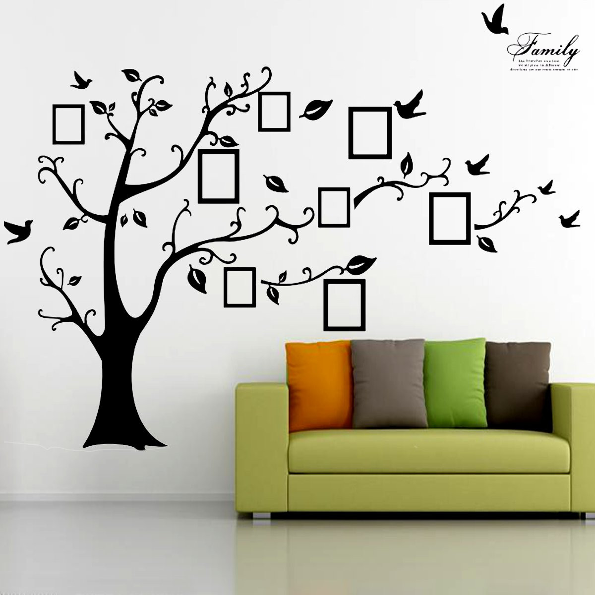 25m removable memory tree picture frames wallpaper photo wall memory tree amipublicfo Gallery