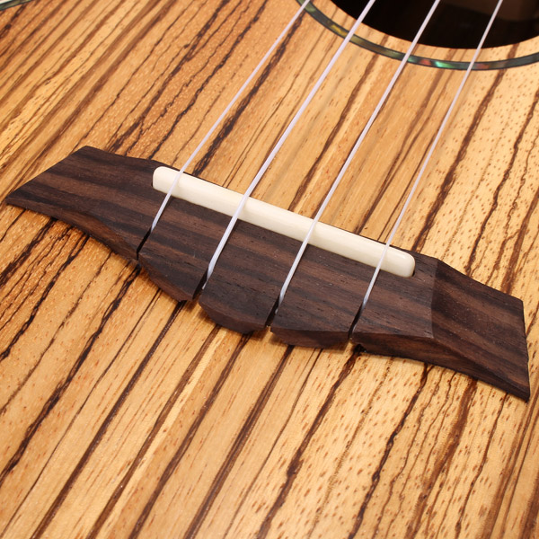 26 Inch UKTE-ZB Zebra Wood Ukulele 4 Strings with Pickup - Photo: 8