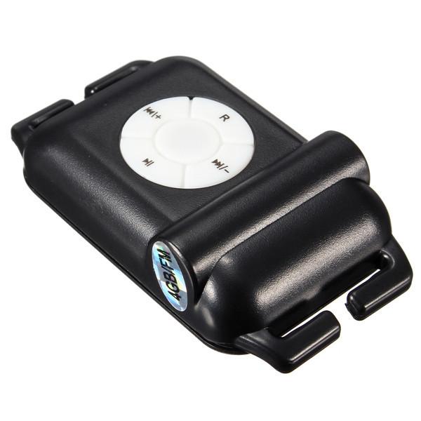 Mini ipx8 4gb imperm able lecteur mp3 sport radio fm nage for Ecouteur pour piscine