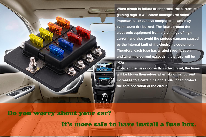 Imars 8 Way Fuse Box 12v 32v Circuit Standard Blade Block Holder Kit Vespa Lxv Location Car Caravan