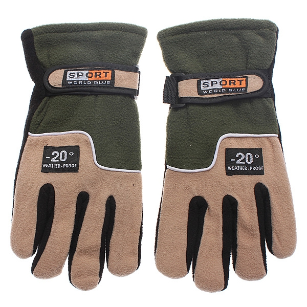 Skiing Sports Motorcycle MTB Bike Bicycle Cycling Full Finger Warm Gloves