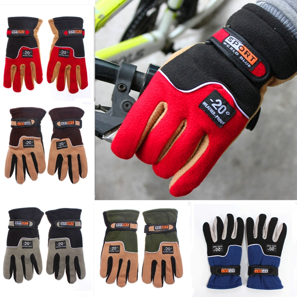 Buy Skiing Sports Motorcycle MTB Bike Bicycle Cycling Full Finger Warm Gloves