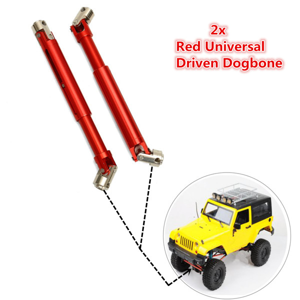 2pcs Red SCX0016 Universal Drive Shaft for SCX10 4WD RC 1:10 Off-Road Car - Photo: 7