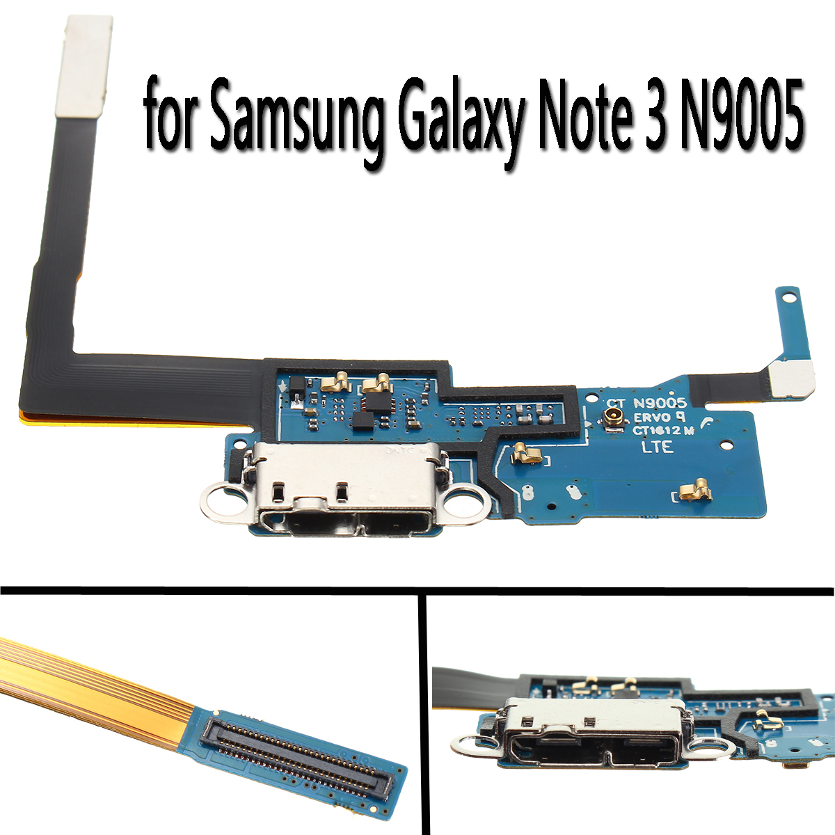 Charge Port Flex Cable Connector Replacement Tail Plug Plate For Samsung Galaxy Note 3 N9005