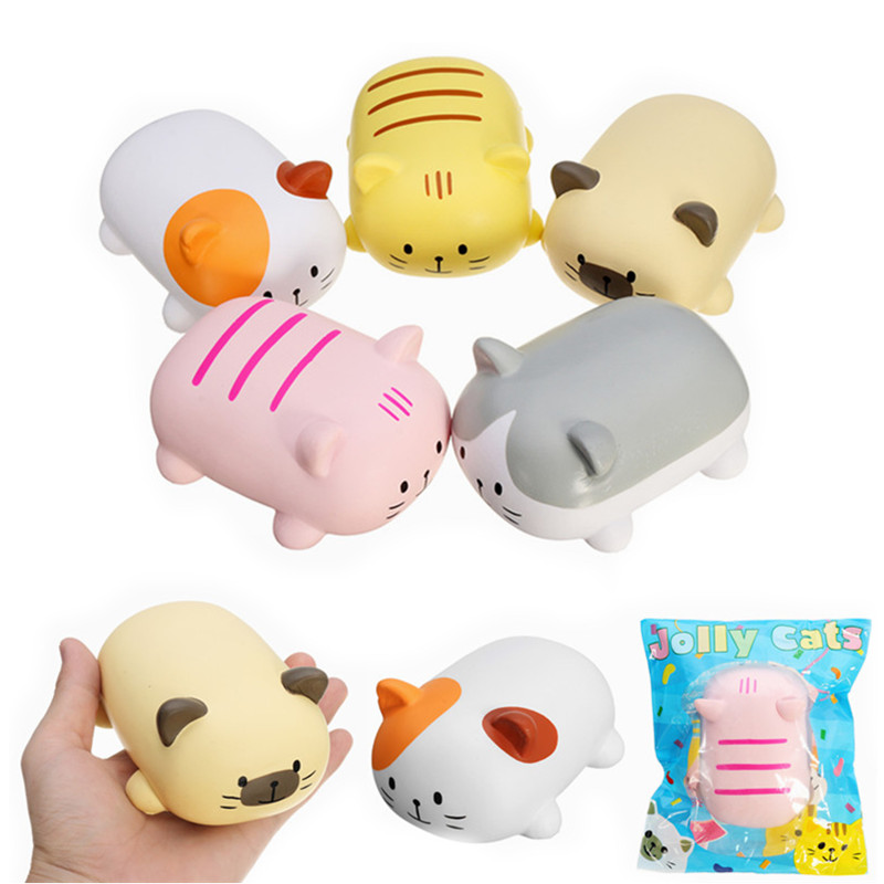 Squishy Cat Desk Toy : Angie Squishy Jolly Cat 12cm Soft Scented Slow Rising Original Package Collection Gift Decor Toy ...