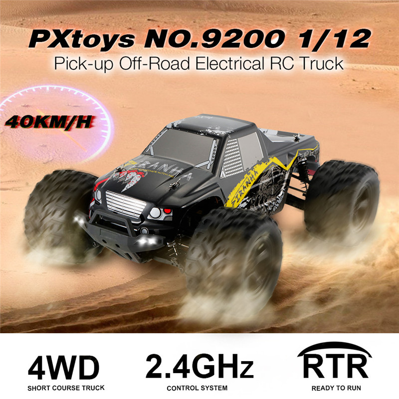 PXtoys 9200 1/12 2.4G 4WD 40KM/H Electric RC Car Pick-up Off-Road Vehicle Toys RTR