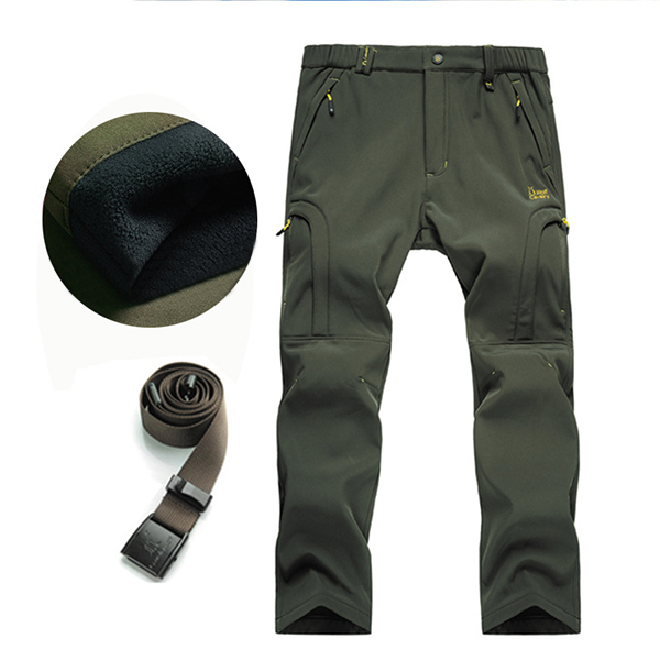 Men's Thick Warm Anti-UV Moutain Hardwear Pants Climbing Hiking Riding Waterproof Windproof Trousers