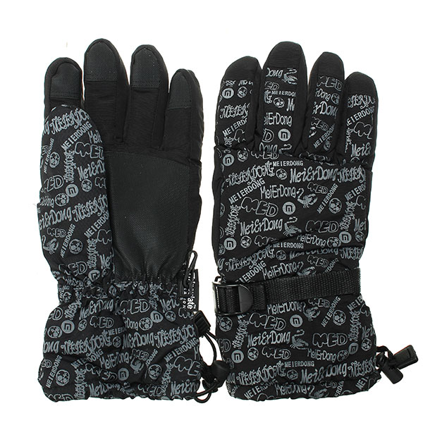 Winter Waterproof Warm Double Thickening Gloves For Skiing Riding Climbing