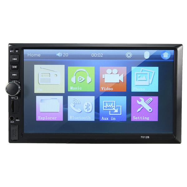 7012B 7 Inch Double 2DIN Car Radio Stereo Bluetooth MP4