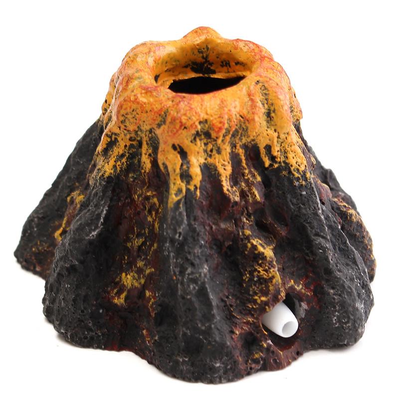 Buy Aquarium Volcano Shape & Air Bubble Stone Oxygen Pump Fish Tank Ornament Decoration