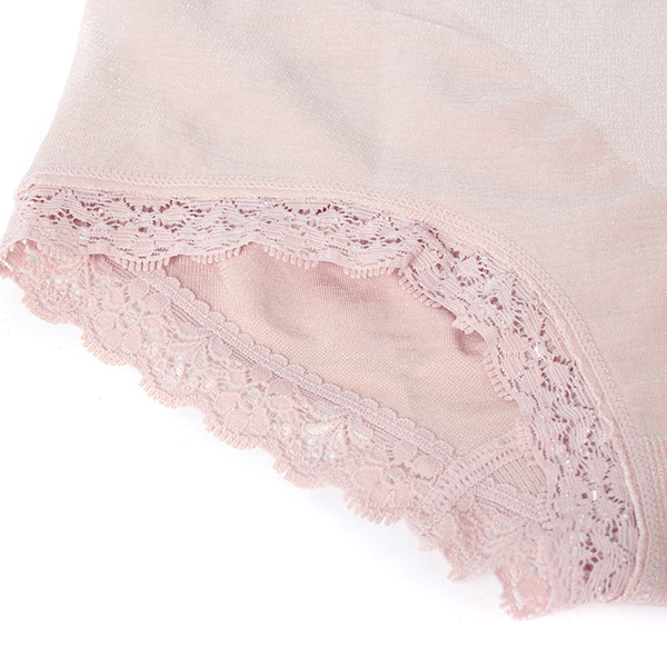 S-3XL Women Modal Low Rise Lace Foot Briefs Strethced Panties