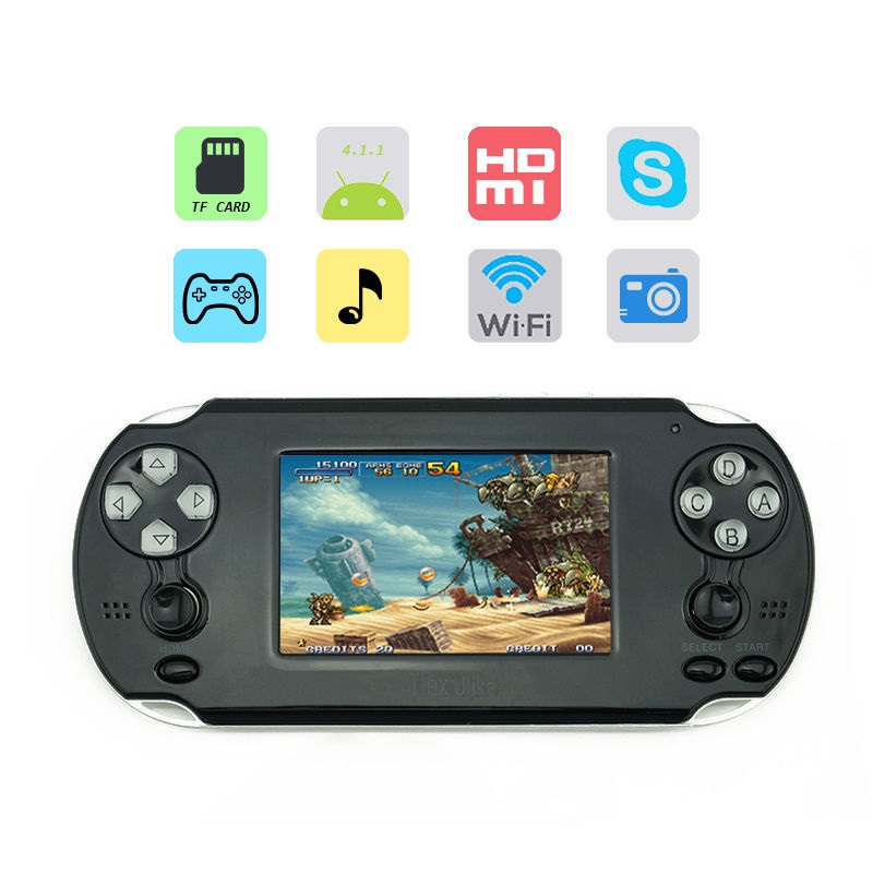 Tlex Ulike 3.5inch Touch Screen WiFi Game Console Suppo