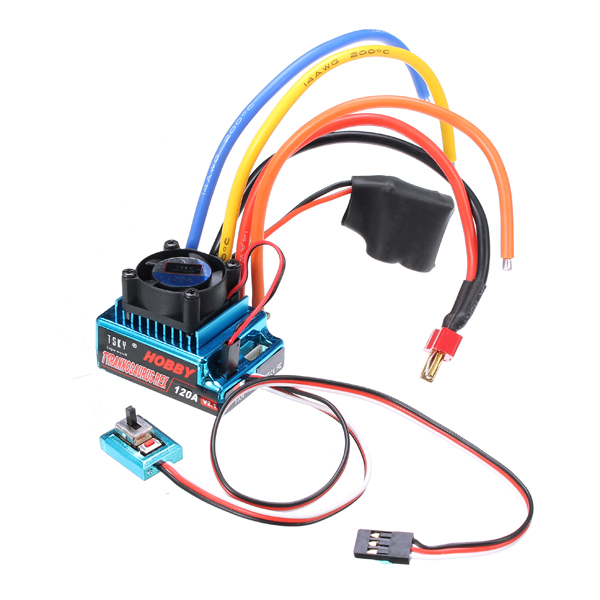Buy TSKY 120A 1/10 1/8 6v ESC Senseless Brushless/Sense Brushless RC Car Part