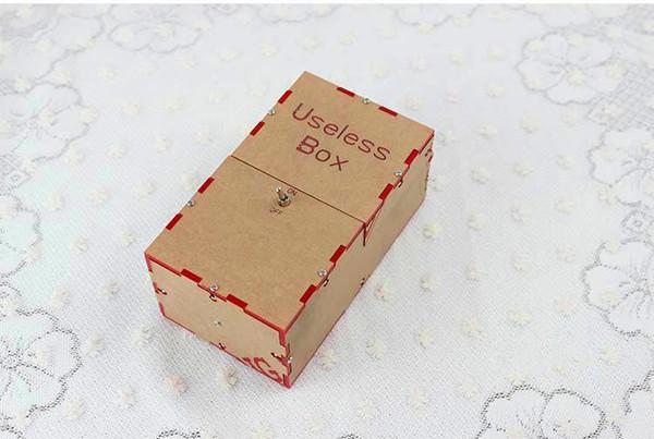 Useless Box DIY Kit Useless Machine Birthday Gift Toy Geek Gadget Fun Office Home Desk Decor  - Photo: 1