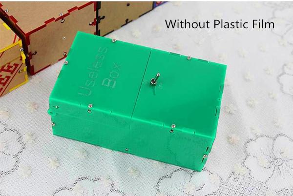 Useless Box DIY Kit Useless Machine Birthday Gift Toy Geek Gadget Fun Office Home Desk Decor  - Photo: 2