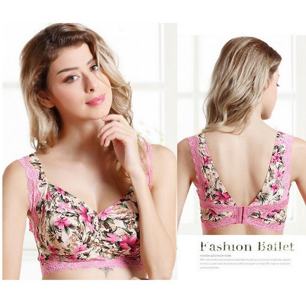66fa117227 Original Sexy Wire Free Lace Thin Comfy Floral Beauty Back Closure ...