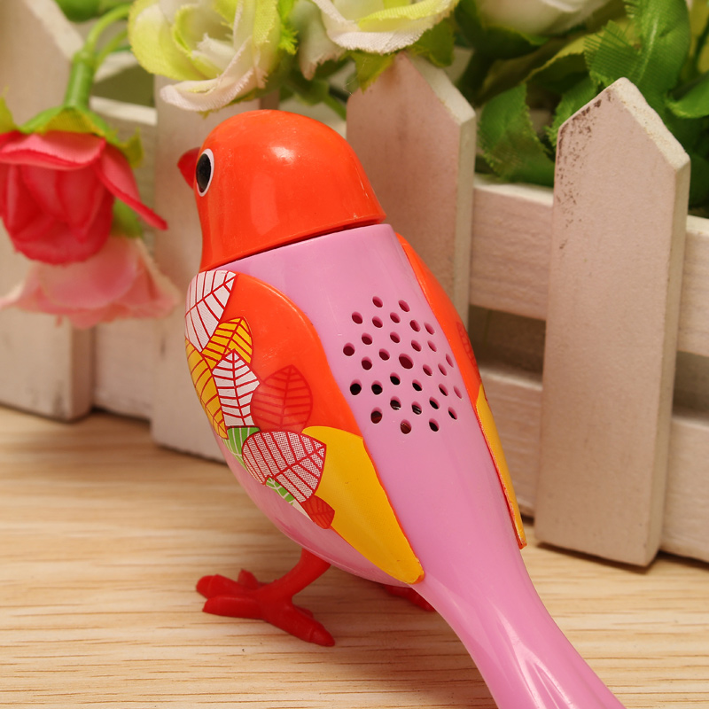 Voice Birds Whistles Induction Companion Bird Children Toys Random Color - Photo: 4