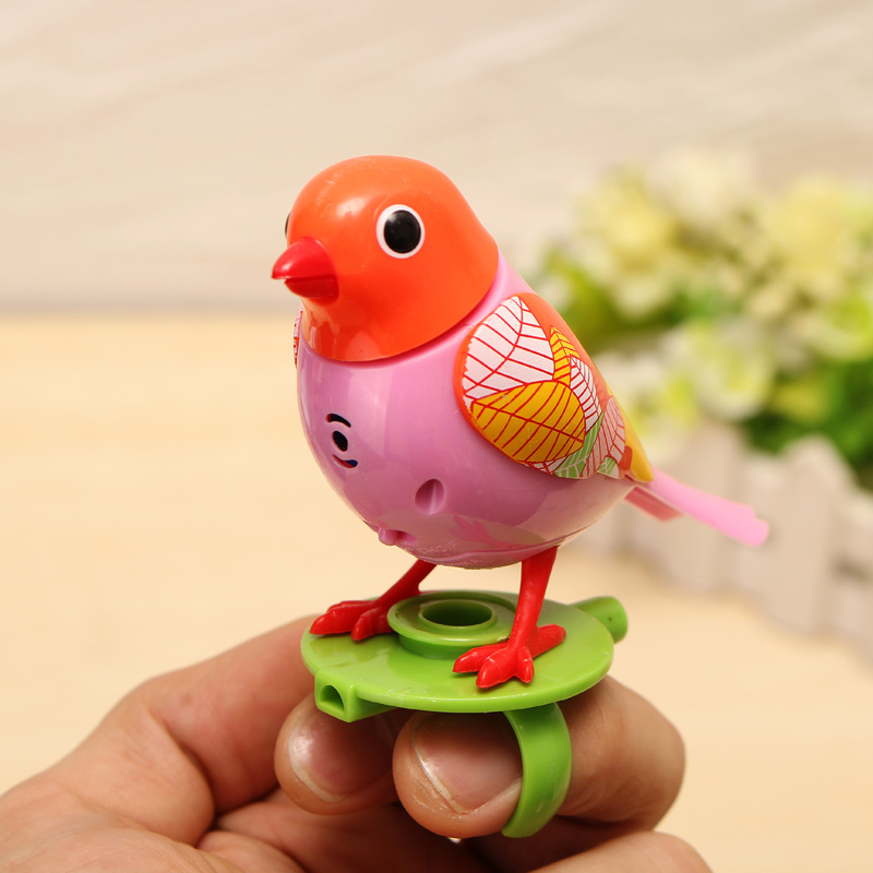 Voice Birds Whistles Induction Companion Bird Children Toys Random Color - Photo: 1