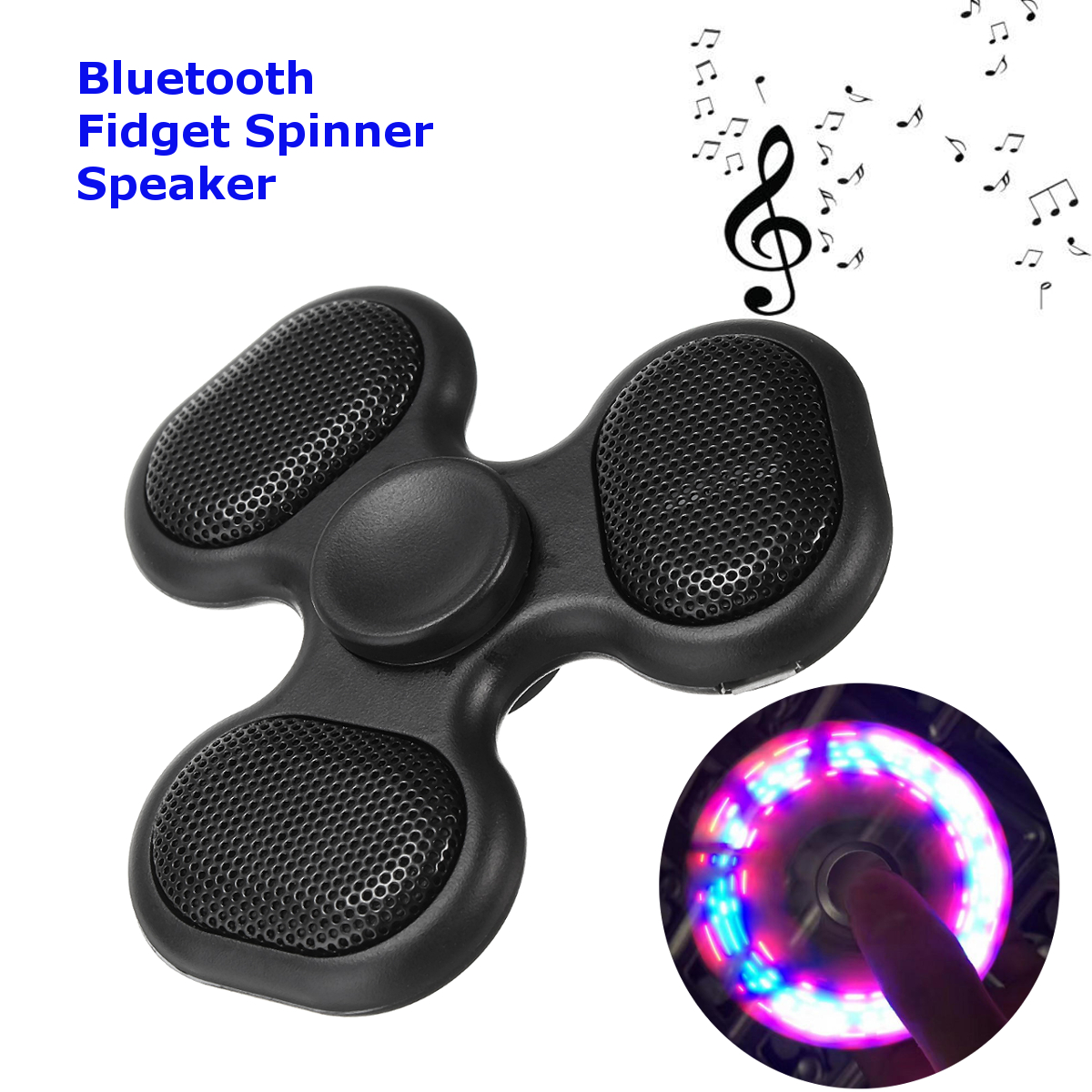 Wireless Bluetooth LED TF Card Music Fidget Spinner EDC Hand Spinner Speaker для iPhone Samsung
