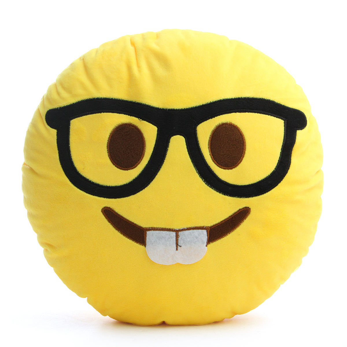 Buy 35CM Large Front Teeth Nerd Emoji Emoticon Plush PP Cotton Soft Toy