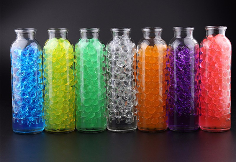 DIY Ocean In A Bottle Rainbow Bottle Expandable Water Balls Colorful Sea Bottle Grow In Water Toy - Photo: 5